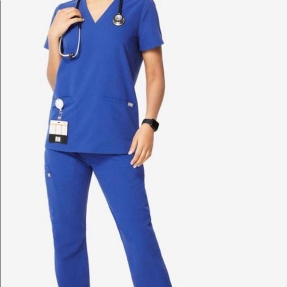 Figs new set of winning blue scrubs